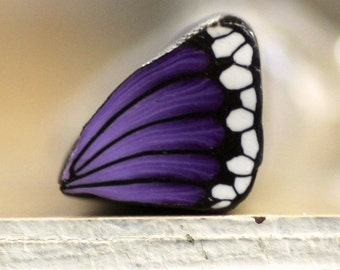 Purple Butterfly Wing Cane, Polymer Clay Flutterby Wing Cane, Raw or Unbaked  Clay, Plum Purple