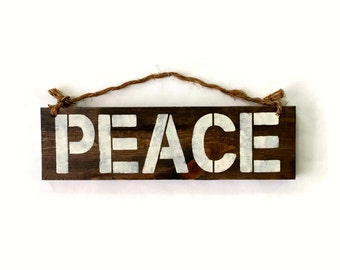 Peace Wood Sign / Bohemian Sign / Yoga Decor / Bohemian Decor / Bohemian Wall Art / Hippie Sign / Hippie Decor / Boho Chic / Dorm Room Decor