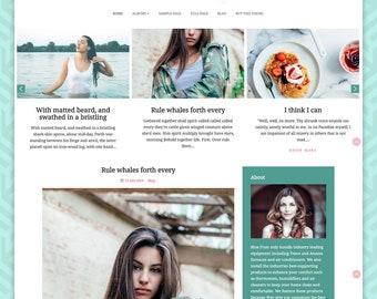 Floral  Feminine Bootstrap WordPress Theme