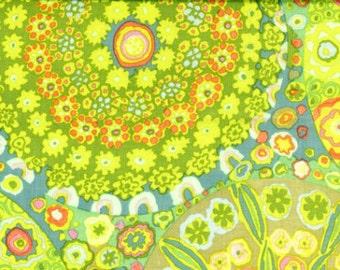 Kaffe Fassett - GP92, Millefiore green - 1/2 yard cotton quilt fabric 516
