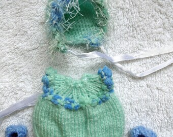 """Hand Knitted Dolls Clothes for  6"""" full body silicone Baby Boy Doll(# 288)"""