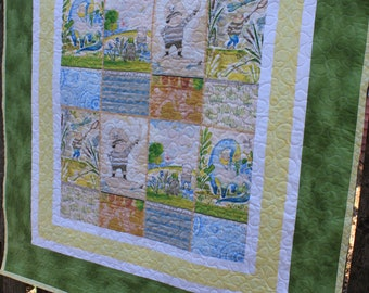 The Wonderer Boys Baby Quilt with Plush Dinosaur Toy // Toddler Quilt // Baby Shower Gift // Baby Gift // Explorer Quilt