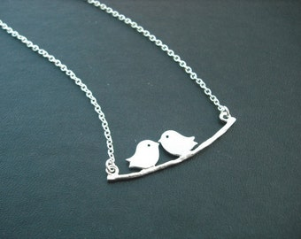 Sterling Silver Chain - lovely mod birds necklace