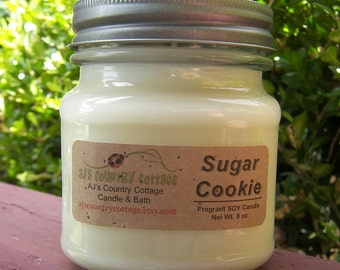 SUGAR COOKIE SOY Candle - Vanilla Candles, Cookie Candles, Holiday Candles, Christmas Candles, Scented Candles, Christmas Cookies Candle