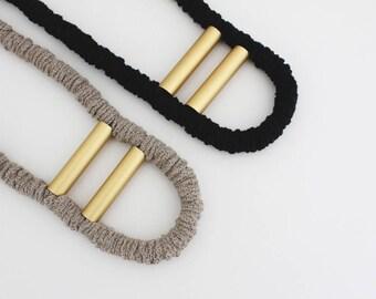 D U N E || rope necklace | cotton necklace | aluminum tubes | contemporary jewel