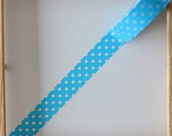 "Masking tape - pattern ""Pea TURQUOISE"" - 1.5 cm x 10 m"