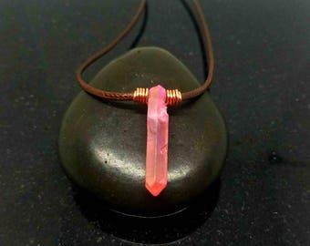 Aura quartz necklace choker, Healing Choker Necklace, Crystal Choker, Crystal choker, Crystal Necklace, Healing Jewelry, Stone Choker