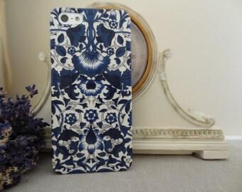 Liberty fabric iPhone & Samsung Galaxy case - Lodden Navy