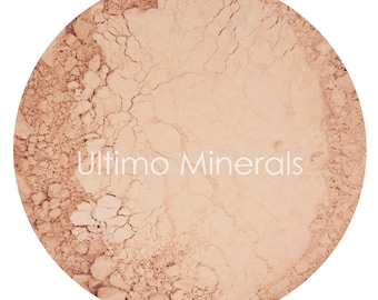 Ultimo Minerals PEACHEY BEIGE 1Oz. Refill 30 grams Full-Coverage Mineral Foundation - Soft Pearlescent Finish - FREE Shipping!