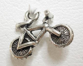 1 silver bicycle Charm. Charm pendant