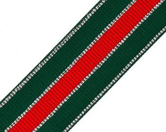 "2"" (50mm) Elastic Stretch Ribbon Trim for Stretch Elastic Band, headband, hand band and waist belt, 1 yard, Black, Green TR-11600"