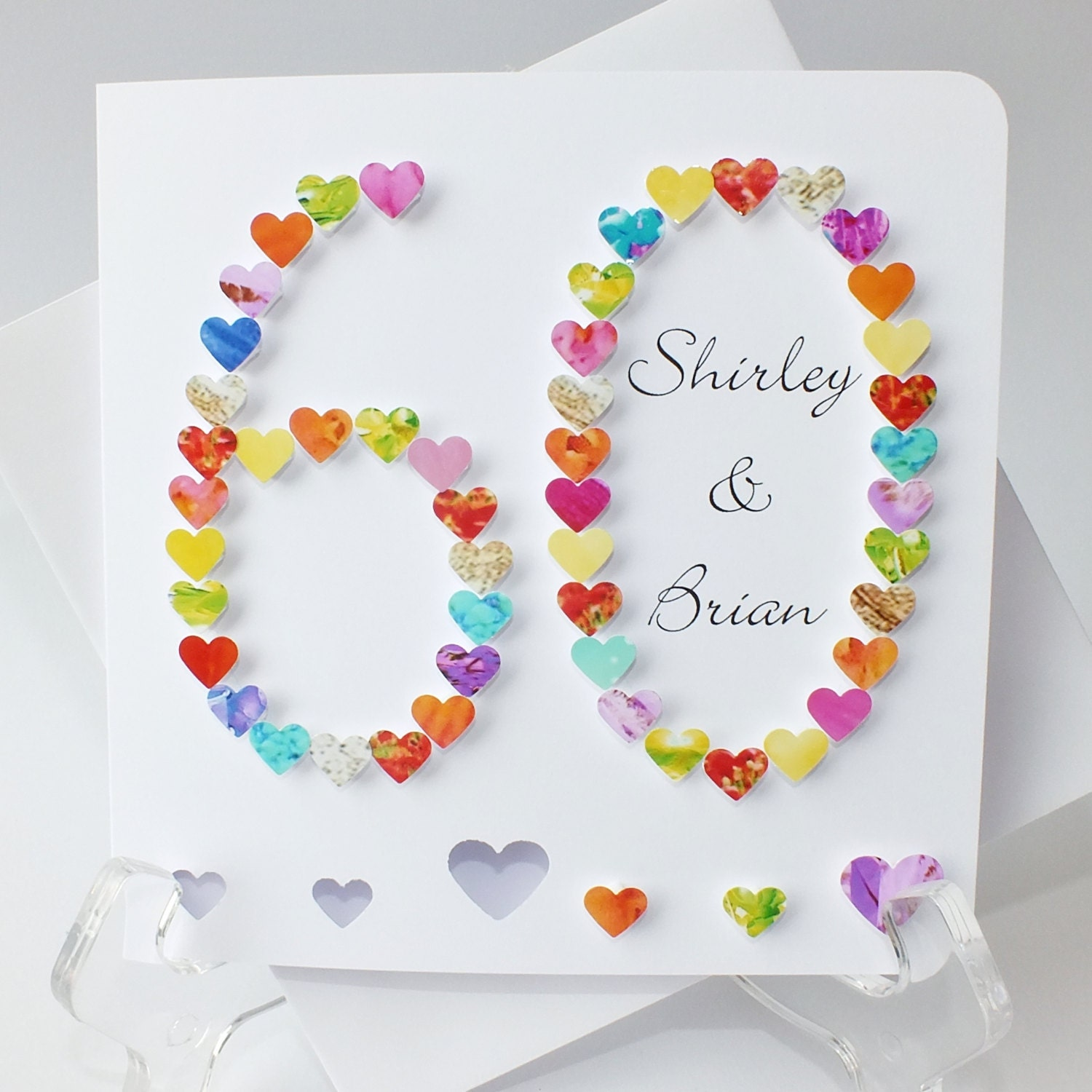 60th wedding anniversary card handmade diamond wedding zoom kristyandbryce Choice Image
