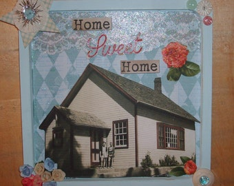 Home Sweet Home Vintage Inspired Collage Wall Decor