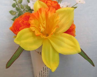 spring time wall hanger orange and yellow
