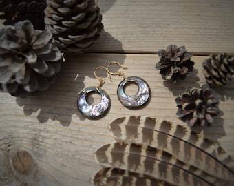 """""""HANWI"""" mother of pearl earrings"""