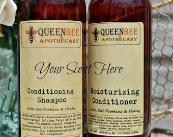 CHOOSE • YOUR • SCENT || Conditioning Shampoo & Moisturizing Conditioner Set • 16 Ounce {Scents R-Z}