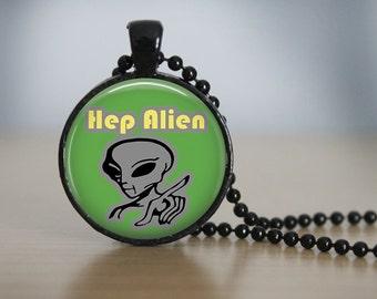 "Gilmore Girls ""Hep Alien"" Pendant Necklace or Keychain"