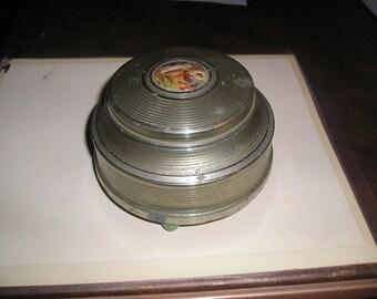 BATH001. Powder Puff Music Box, Vintage