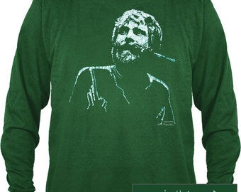 Grateful Dead Brent Mydland Long sleeve T shirt/ 100% cotton heavyweight shirt/ Easy to Love you