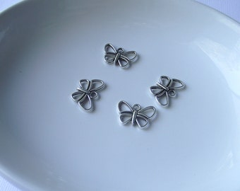 Silver tone Butterfly Component Destash
