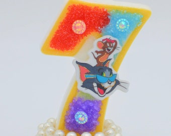 Tom and Jerry candle / tom and jerry birthday / Tom Jerry party / Tom Jerry theme / Tom jerry topper / birthday candle / candle 3