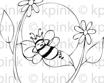 Bee Relaxed - I Dig Digi Stamp