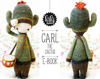 CARL the cactus • lalylala crochet pattern / amigurumi