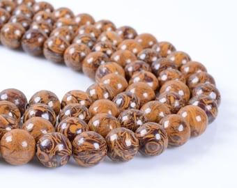 "8MM79 Tiger skin jasper round ball loose gemstone beads 16"""
