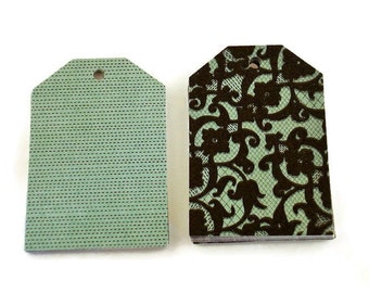 Funky Tags  Large Paper Gift Tags in Jezebel Aqua Set of 20
