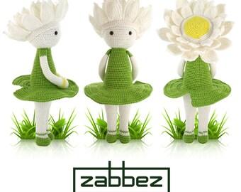 """Crochet pattern amigurumi doll """"Water Lily Winnie"""" PDF"""