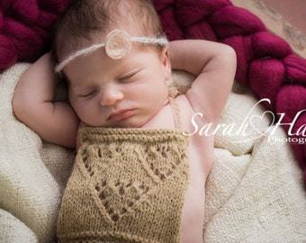 Newborn Romper - Newborn props - alpaca/merino - Newborn overalls
