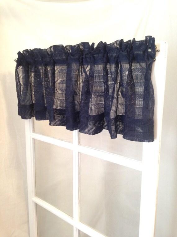 süße dunkelblaue Vorhang Volant Land schicke Küche Bad