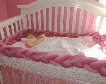 Braided Crib Bumpers Baby Bedding Cot Knot Pillow Knot