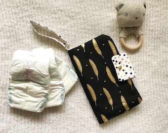 Nappy Wallet, Nappy Clutch, Diaper Wallet, Diaper Clutch, Baby Shower, Baby.