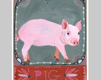Animal Totem Print - Pig