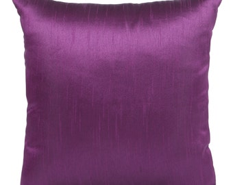 Set of 2 Solid Purple Pillow Covers and Sham Covers Purple Pillow Accent Pillow Purple Pillow Cover Purple Throws Purple Shams Bedding