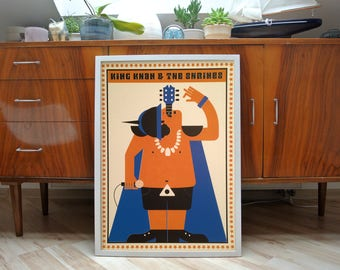 king khan & the shrines | screen print | limited of 10