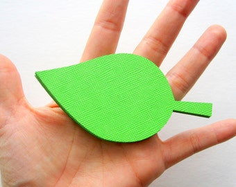50 Large Leaf die cuts 4 inches x 2 inches - Choose your color - for Wishing Trees, Favor Tags, Place Cards or Gift Tags A544