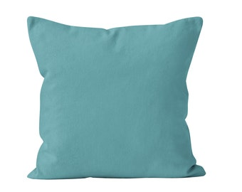 Marine Blue Pillow Cover, Solid Blue Pillow Cover, Beach Pillow Cover, Medium Blue Pillow Cover, Canvas Pillow Covers Blue 18x18 _M