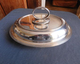 Cogent flat Charles S Green & Co covered vegetable dish silver plated EPNS