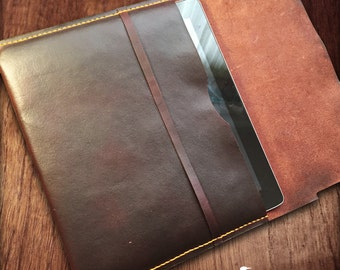 Leather tablet cover, handmade leather tablet cover, iPad cover, leather iPad cover, Galaxy tablet cover, leather Galaxy tablet cover