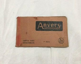 Anvers Belgium Postcard Booklet of 10 Unused cars cir 1910 Europe
