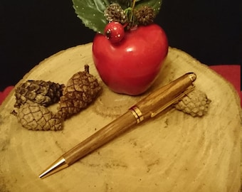 Hand made Zebrano wood ballpoint pen
