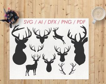 Deer svg / Deer svg file / Deer svg for cricut / Deer dxf / Deer clipart / Deer cricut / Deer png / Deer cutting file / Deer vector