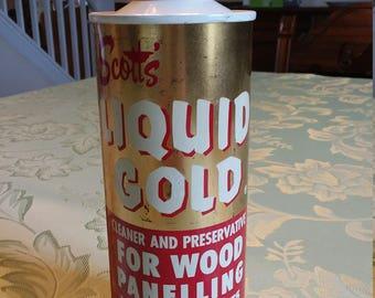 Scott's Liquid Gold Tin - Vintage - Pre-UPC Codes