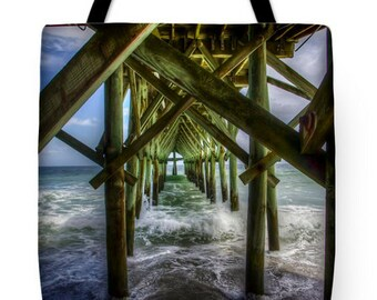 Under the Boardwalk | Myrtle Beach, South Carolina Tote Bag