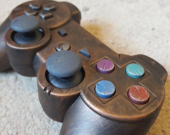 Custom STEAMPUNK / WASTELAND Rustic PS3 Controller - Brass .. fan art