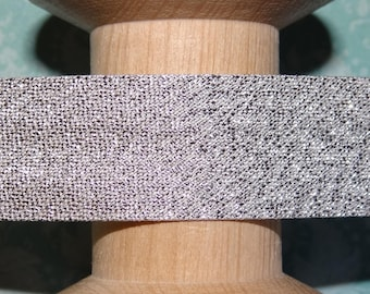 Bias silver Lurex, sold by the yard - 4182 2-