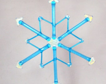 Medium Fused Glass Snowflake