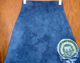 Women's Handmade Batik Steal Your Face Jerry Garcia Skirt